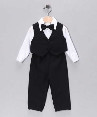 $27.99 Take a look at this Lida Navy Pants Set - Infant by Festive Finery: Kids' Apparel on #zulily today!