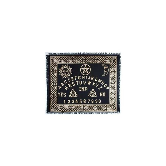 Altar Tarot Cloth Ouija-Board (£15) ❤ liked on Polyvore featuring home, home decor, fillers, decor, backgrounds and misc