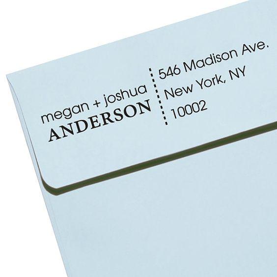 "CUSTOM ADDRESS STAMP - Eco Friendly & self inking, gifts for wedding, housewarming, etsy labels, return address stamp ""Names3"""