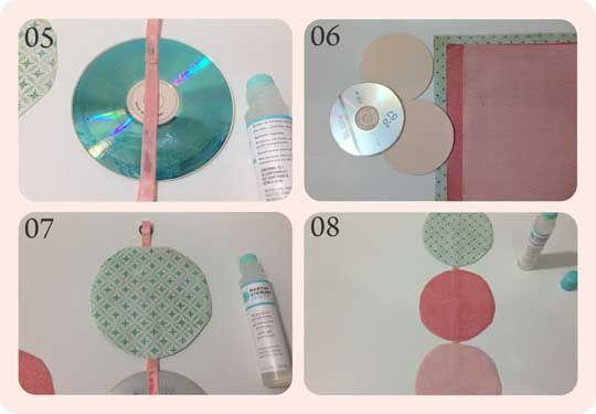Artesanato com cds velhos passo a passo