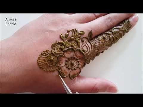 Delicate Henna Mehndi Design Youtube Mehndi Designs Henna Mehndi Design Henna Tattoo Diy