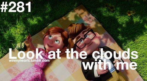 Você olha para as nuvens comigo