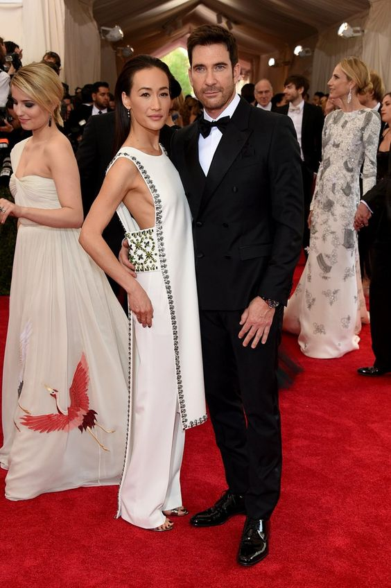 Pin for Later: Les Couples Ont Volé la Vedette au Met Gala Maggie Q et Dylan McDermott