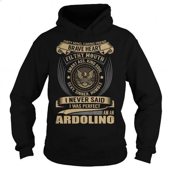 ARDOLINO Last Name, Surname T-Shirt - #gift certificate #bestfriend gift