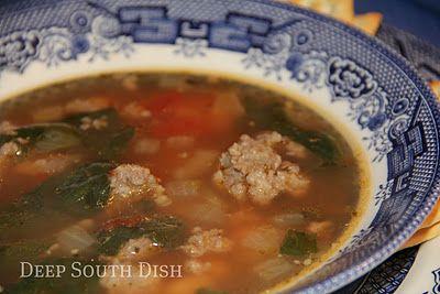 Southernized Italian Wedding Soup
