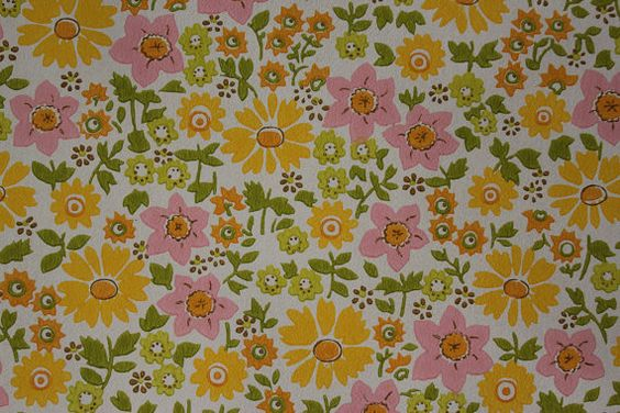 Vintage Wallpaper 1960's Retro Pink and Yellow by RosiesWallpaper, $14.00