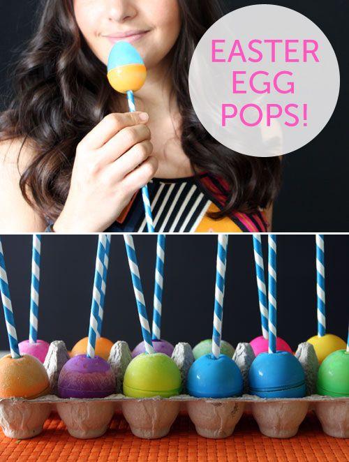 Easter egg pops: