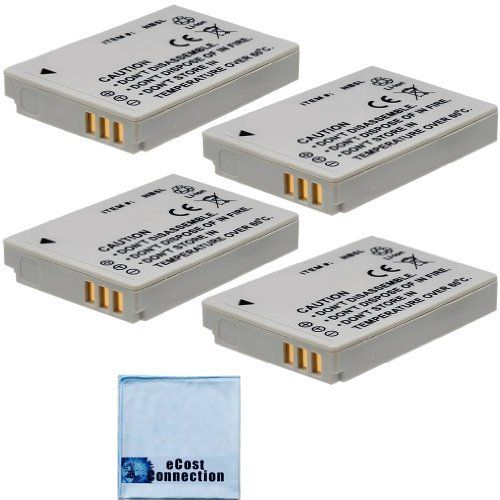 4 Nb 5l Rechargeable Batteries For Canon Powershot S110 Sd700 Is Sd700 Is Digital Elph Sd790 Sd790 Is Dig Microfiber Cloth Powershot Rechargeable Batteries