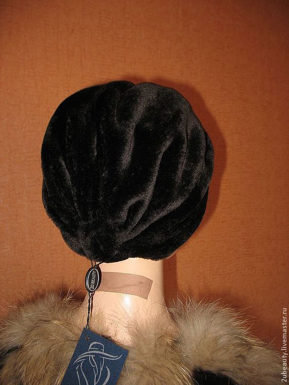 выкройка шапки чалма из исскуственного меха