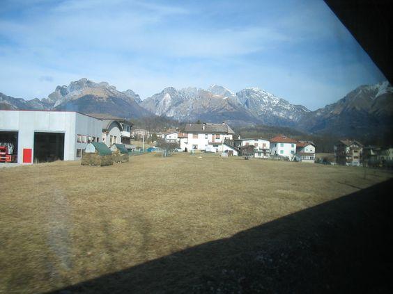 in treno andando a Cortina