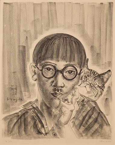 Leonard Tsuguharu Foujita 1886 1968 Autoportrait Au Chat Cat