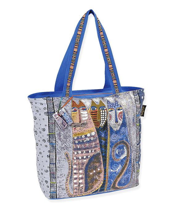 Laurel Burch Blue & Gray Autumn Felines Tote by Laurel Burch #zulily #zulilyfinds