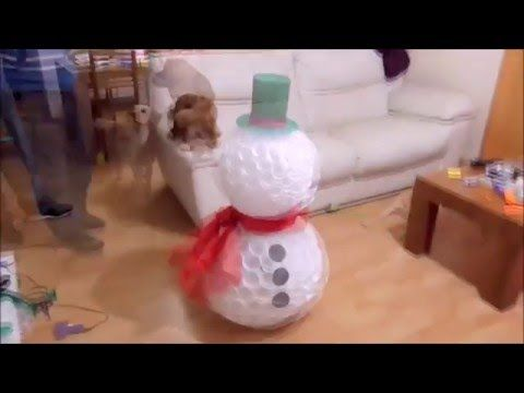 How to Make Snowman Using Plastic Cups - YouTube