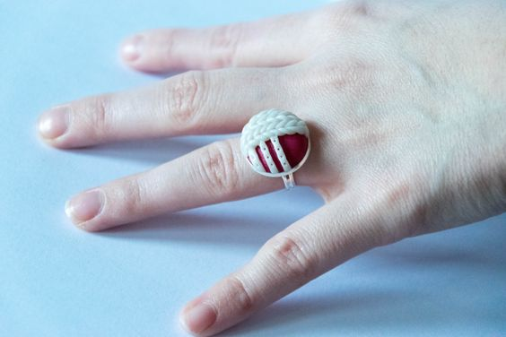 Bague style tricot - 12€