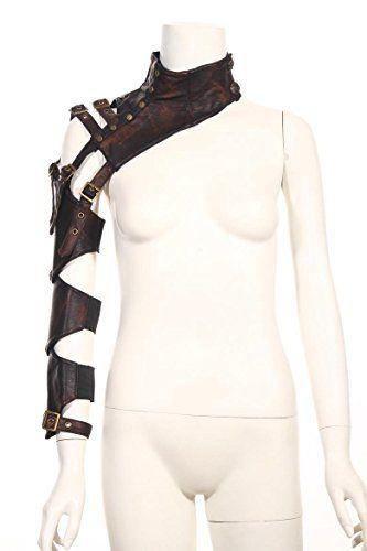 cool Steampunk VTG Retro leather arm warmer bolero Shrug Shawl Cape Wraps Top Jacket