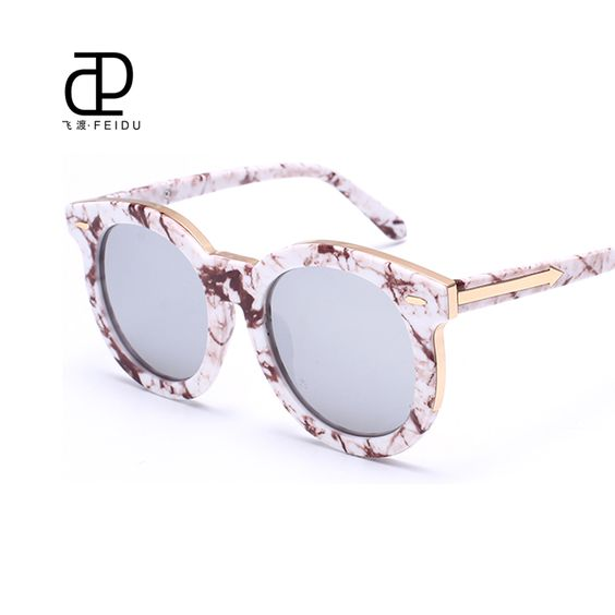 $18.55 (Buy here: http://appdeal.ru/9uby ) FEIDU Brand Designer Cat Eye Sunglasses Women UV400 Arrow Mirror Sun Glasses For Women Oculos lunette de soleil Gafas With Box for just $18.55