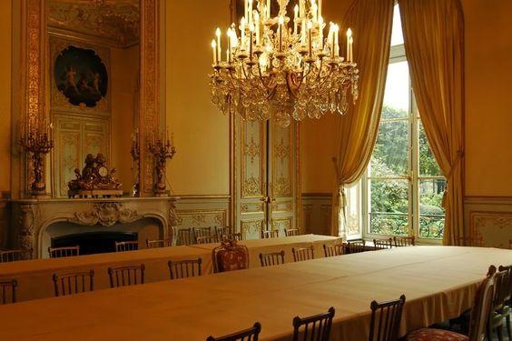 Hôtel de Lassay - Paris, France. la salle de réunions pour la préparation des…