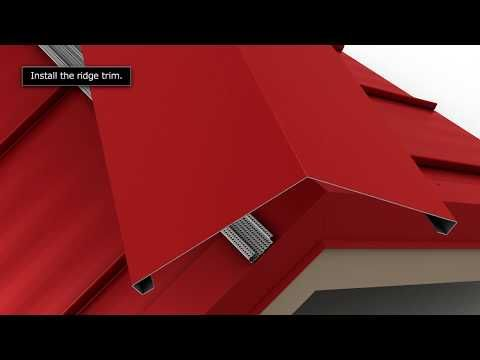 How To Install Standing Seam Metal Roofing Vented Ridge Cap Youtube Metal Roof Metal Roof Installation Roofing