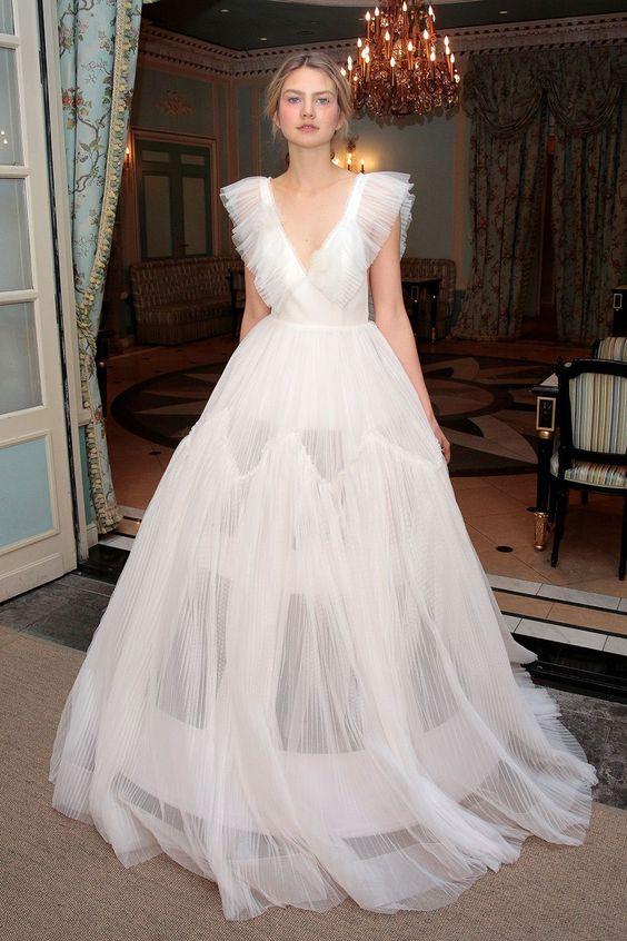 high honor wedding dresses