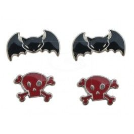 Emily the Strange SAVE YOURSELF 2 Pack Stud Earrings by Emily the Strange