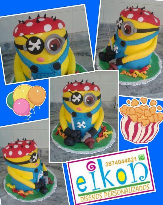 Pirat minion cake