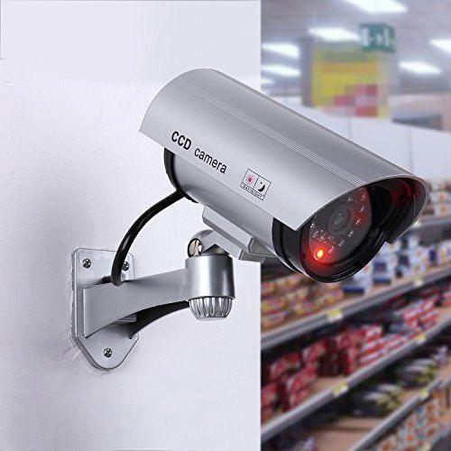 LOT FAKE OUTDOOR SECURITY SURVEILLANCE CCD CAMERA SYSTEM+BURGLAR WARNING SIGN