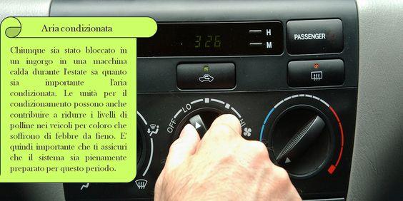 Aria condizionata   L'unità di condizionamento dell'aria deve essere riparata ogni tre anni o, quando necessario. La causa più comune di un malfunzionamento del condizionatore è un basso livello di refrigerante. Fai controllare da un professionista l'unità A/C per scoprire eventuali perdite e valutare i livelli di refrigerante. #pneumaticichiodatioafrizione