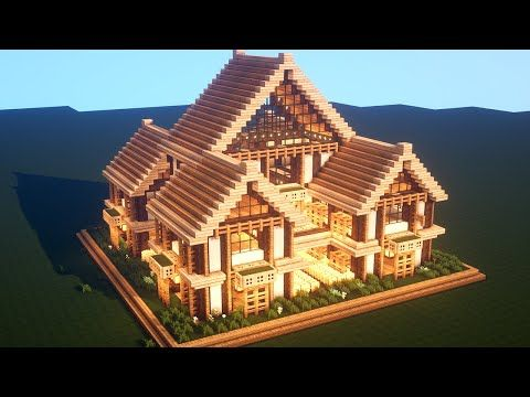 Easy Minecraft Large Oak House Tutorial How To Build A Survival House In Minecraft 37 In 2020 Minecraft House Tutorials Easy Minecraft Houses Cute Minecraft Houses