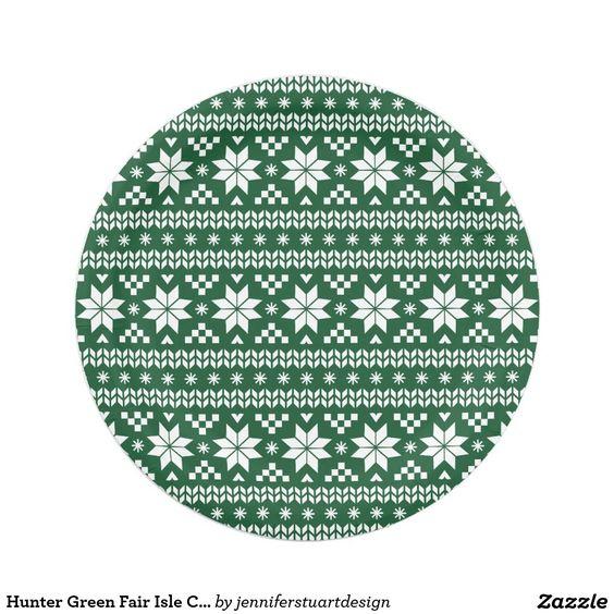 Hunter Green Fair Isle Christmas Sweater Pattern