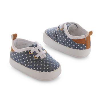 OshKosh B'gosh® Polka Dot Chambray Crib Shoes - Baby
