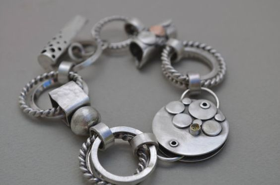 Sterling Silver Link Bracelet  One of a Kind by ReaganHayhurst, $525.00