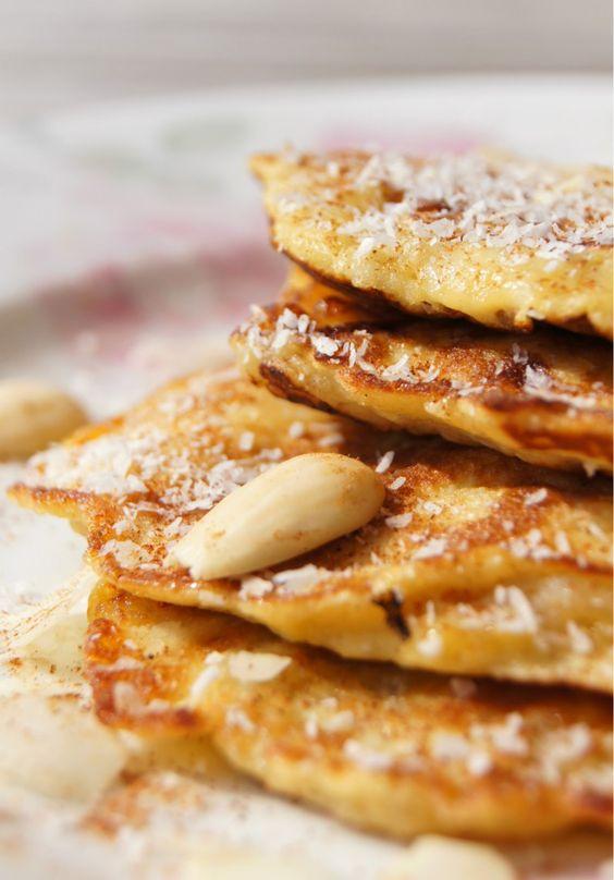 Suikervrije Banaan Pannenkoek (ei vervangen met een eivervanger)