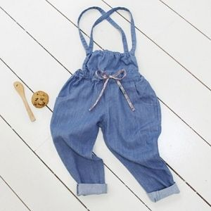 Lolly Overalls - Dark Denim. They don't have her size any moooore