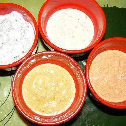 Sauces légères pour pierrade, fondue bourguignone, ou apéritif