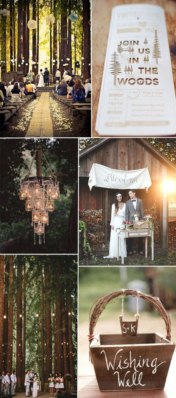 2016 country rustic woodland wedding theme ideas