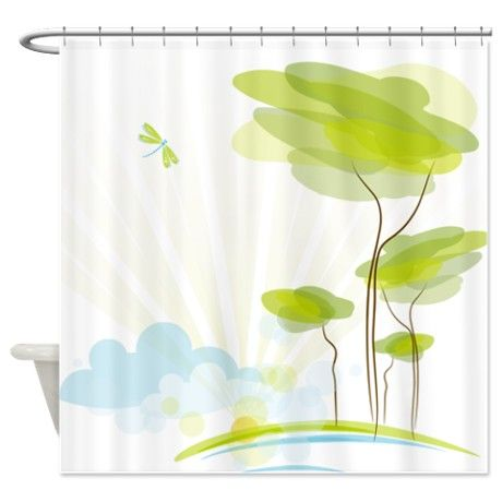 Abstract Nature Landscape Shower Curtain Curtains Abstract And Shower Curtains