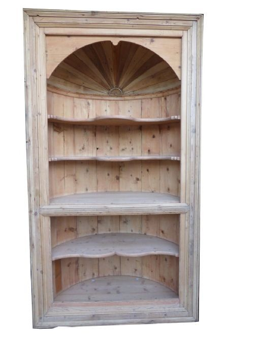 Early Victorian Pine Dome Top Corner Cabinet