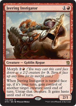 Jeering Instigator   Magic: The Gathering Card