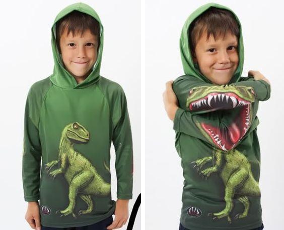 Blusa Dinossauro para crianças. | ROCK'N TECH