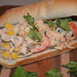 Southwestern Chicken Sandwich by SweetHerseyLiving