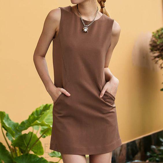 Classic Dress / Front Pockets / Mini Dress / by BorboletaAffair, $68.00