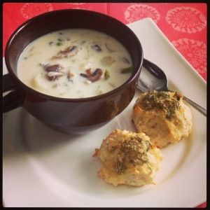 . - Chicken Pot Pie Soup & Easy Rosemary Garlic Parmesan Biscuits ...