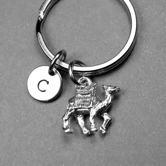 Camel Keychain animal keychain personalized by chrysdesignsjewelry