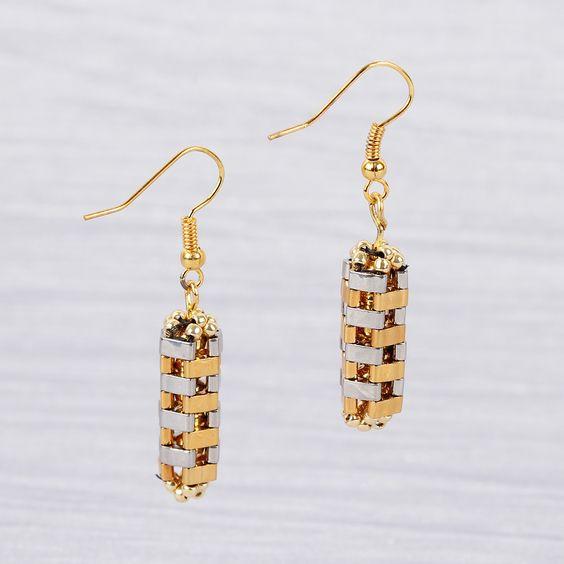 FREE Project Download : Tila earrings