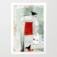 « toute à l'envers » Art Print