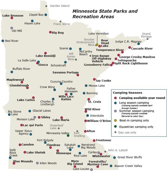 Minnesota State Park campsites mapmake an adventure out of your – Mn Travel Map