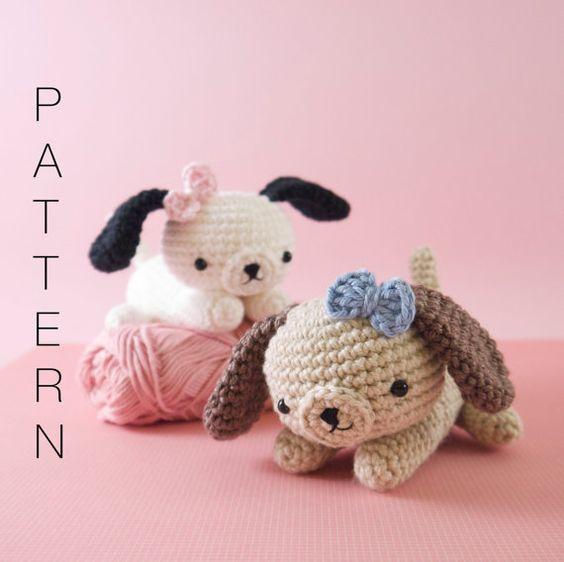 Amigurumi crochet puppy dog PATTERN ONLY (English)