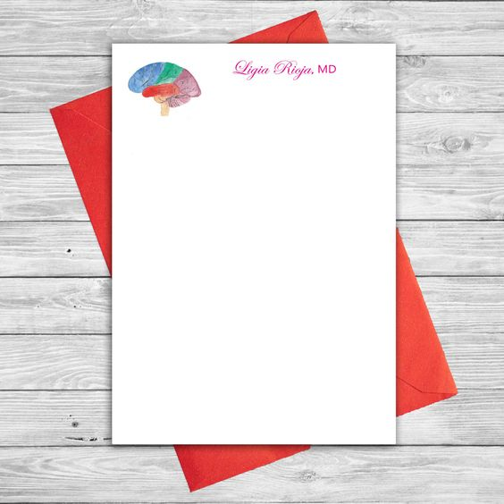 Medical Gift Doctor Gift Personalized Medical Note Card Medical - medical note