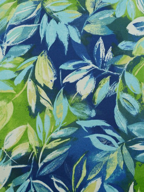 OUTDOOR 2C 61 BLUE FLORAL (Outdoor) #blue-turquoise #botanical-floral #green #print-fabrics #tropical