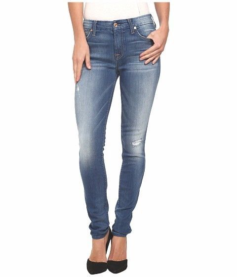 7 For All Mankind The Mid Rise Skinny Stretch Jeans Womens Size 29